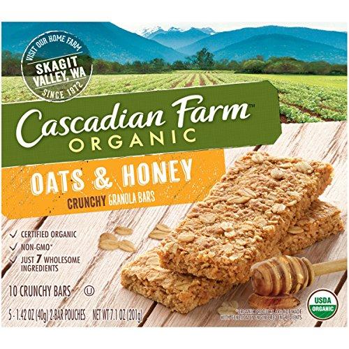 Cascadian Farm Snacks Organic Crunchy Oats And Honey